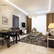客廳現代地板90平米裝修