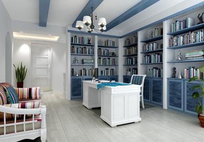 美容院大厅地中海装修效果图,45平美容院装修效果图