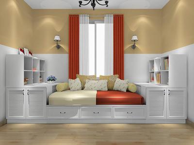 欧式榻榻米床装修效果图,客厅榻榻米床装修效果图