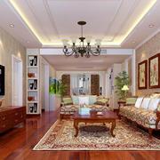 客厅中式灯具100平米装修