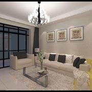 客厅现代门窗90平米装修