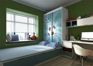 儿童榻榻米卧室带衣柜装修效果图,儿童卧室榻榻米带衣柜装修效果图