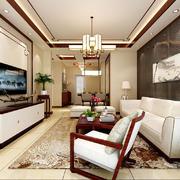 客厅现代壁纸90平米装修