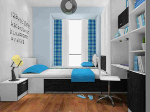 主卧榻榻米床装修效果图,个性榻榻米床吊架装修效果图