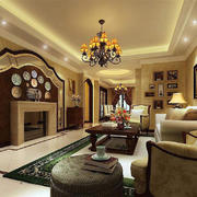 客厅欧式家具90平米装修
