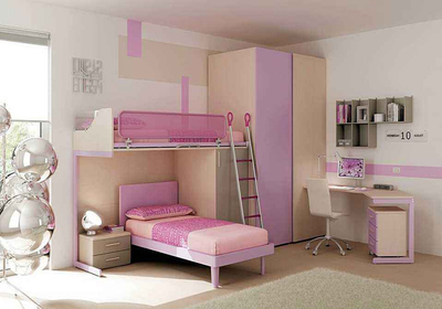双层榻榻米床装修效果图,榻榻米高低床装修效果图