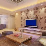 客厅现代背景墙小户型装修