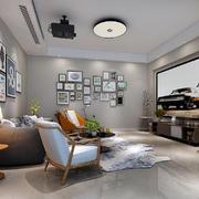 客厅简约背景墙90平米装修