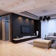客厅现代墙面90平米装修