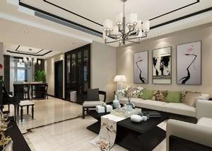 家庭简装客厅装修效果图,新中式家装客厅效果图