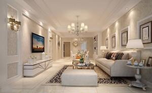 客厅双层石膏线效果图,欧式石膏线客厅效果图