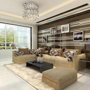 客厅现代地台90平米装修