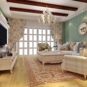 客厅田园家具90平米装修