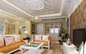 家庭家装客厅吊顶装修效果图,小户型平房家庭客厅装修效果图