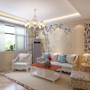 客厅现代地板90平米装修