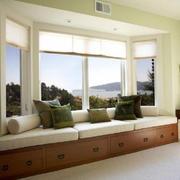 客厅现代飘窗90平米装修
