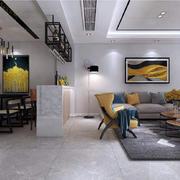 客厅现代隔断90平米装修