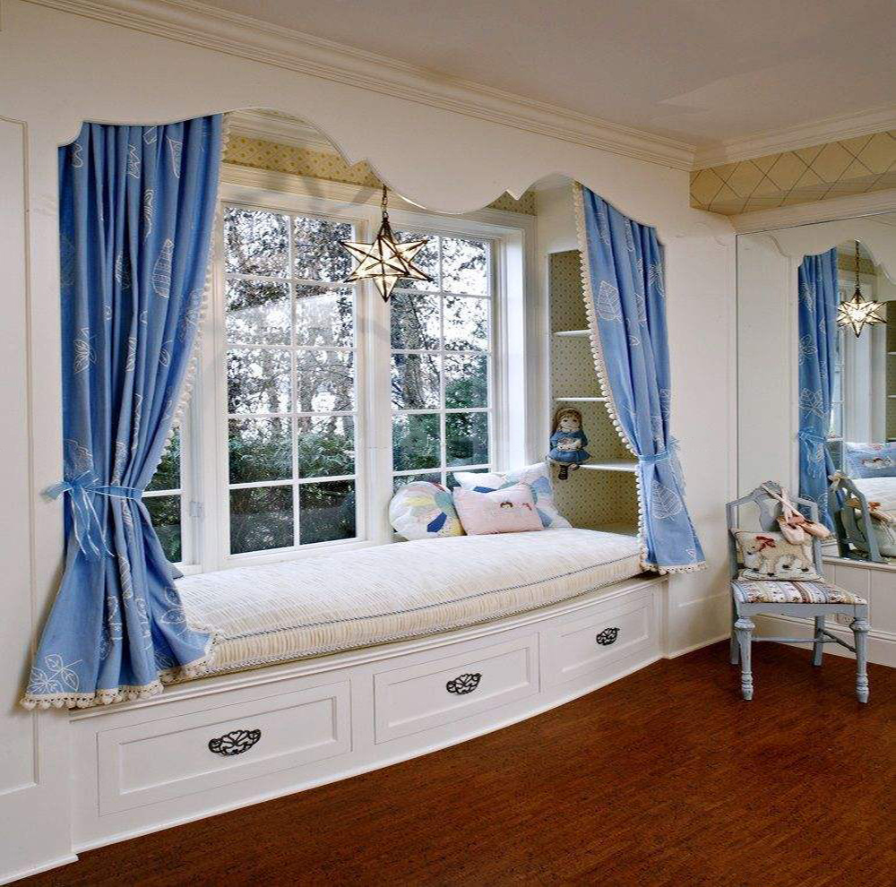 8平米飘窗小卧室装修图,带飘窗的儿童卧室装修效果图大全