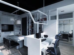 简约40平方办公室装修实景图,现代办公室装修实景图
