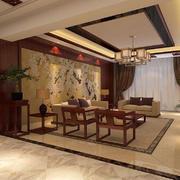 客厅中式家具90平米装修