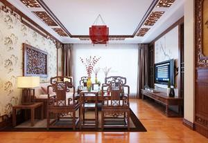 家庭古典中式客厅装修效果图大全,二居室客厅装修设计效果图