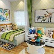 卧室现代隔断90平米装修