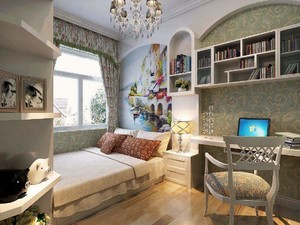 15平米卧室榻榻米装修效果图,高清书房榻榻米装修效果图