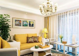 小户型客厅简欧家装设计效果图,40平米小户型复试装修效果图