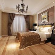 卧室欧式壁纸90平米装修