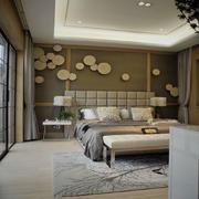 卧室现代背景墙90平米装修