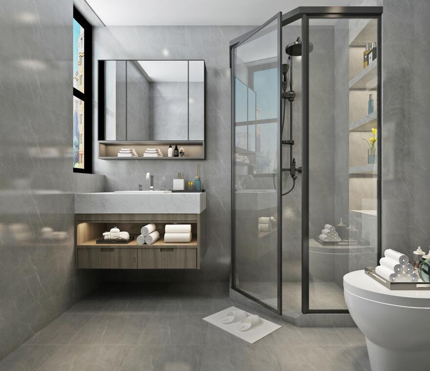 卫生间现代浴室柜两居室装修