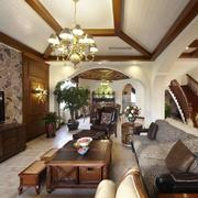 客厅美式家具别墅装修