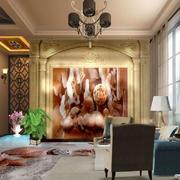 客厅古典背景墙别墅装修