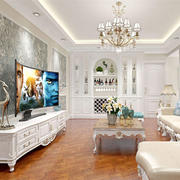客厅欧式壁纸大户型装修