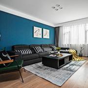 客厅现代墙面两居室装修