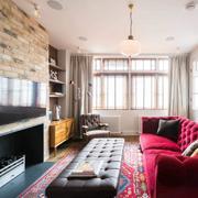 客厅混搭墙面三居室装修