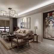 客厅中式家具大户型装修