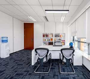办公家具展厅布置效果图赏析