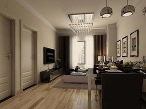 現代簡約風格大客廳裝修效果圖