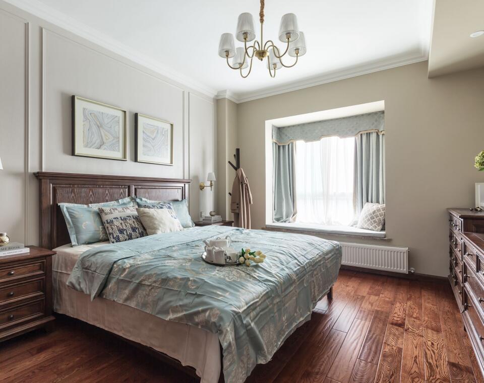 卧室美式墙面大户型装修