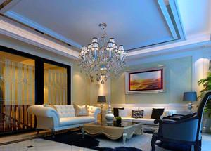 现代欧式客厅吊灯效果图