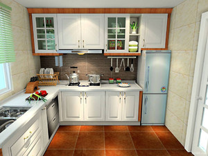 l型櫥柜設計圖帶冰箱