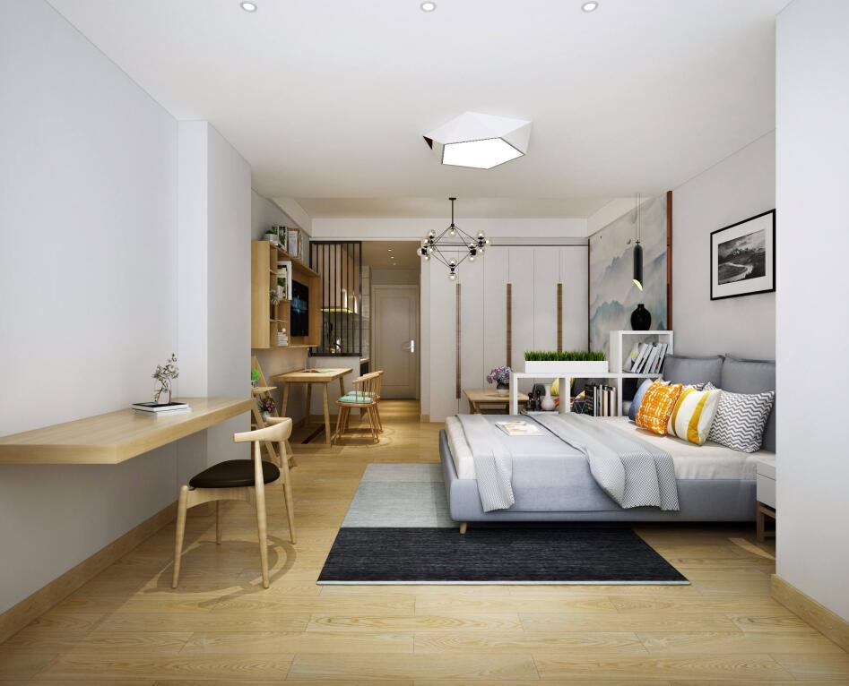 单身公寓40平米小户型装修效果图