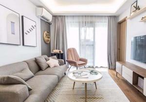 70平北欧风格客厅装修效果图