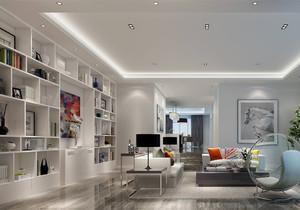 90平方米北欧风格客厅装修效果图