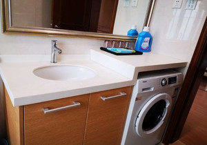 長方形衛生間洗衣機怎么設計圖