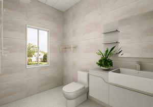 3平方米的長方形衛生間設計圖
