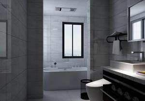 三平米長方形衛生間設計圖