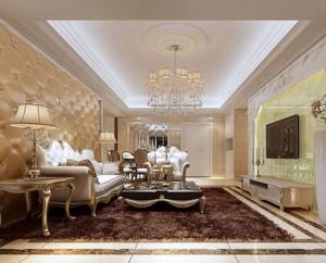 現代簡歐風格別墅裝修效果圖客廳吊頂效果圖大全