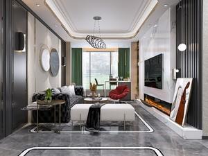 美式风格140平米老房屋客厅装修效果图
